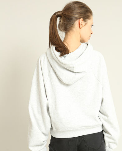 Cropped sweater grijs