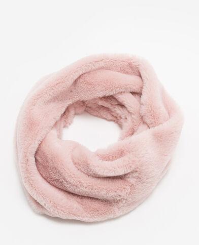 Kraag van imitatiebont roze