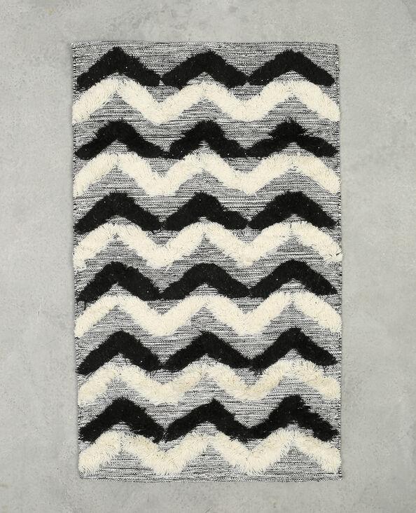 Tapijt met zigzagmotief zwart