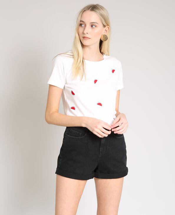T-shirt met watermeloenmotief wit