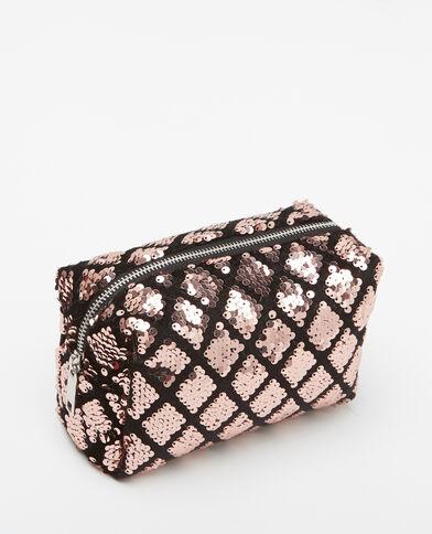 Make-uptasje met glittersteentjes roze