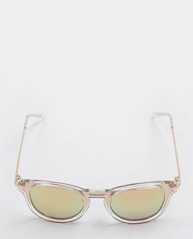 Lunettes de soleil effet miroir blanc