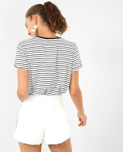 T-shirt met strepen zwart