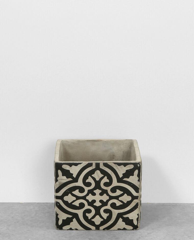 Pot en carreaux de ciment noir 904356899i08 pimkie - Pot carreau de ciment ...