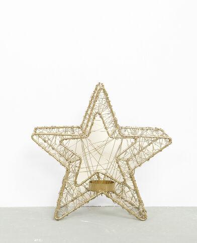 Bougeoir étoile doré