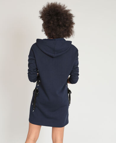 Robe sweat bleu marine