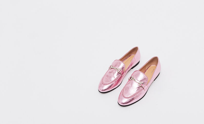 Mocassins à mors rose