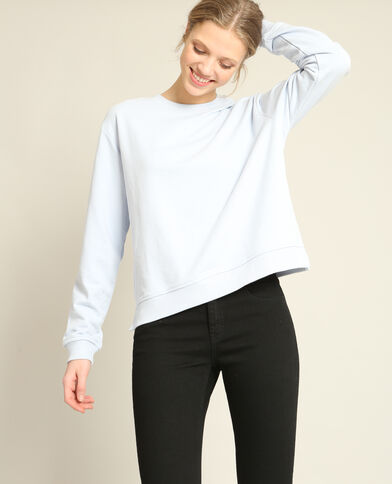 Basic sweater blauw