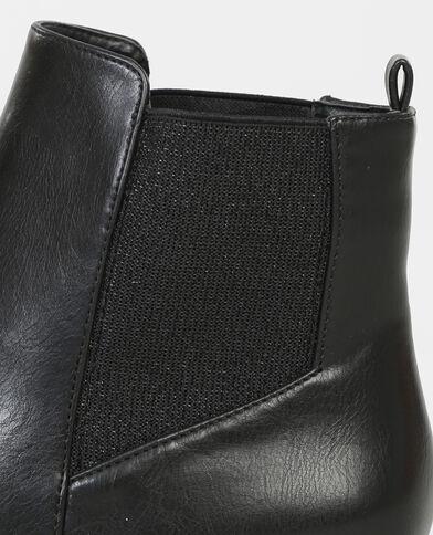Boots chelsea lurex noir