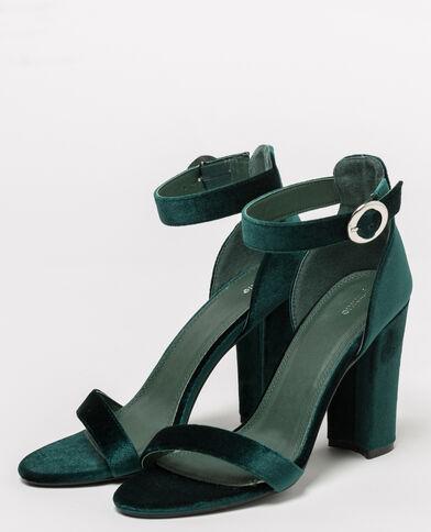 Fluwelen sandalen groen