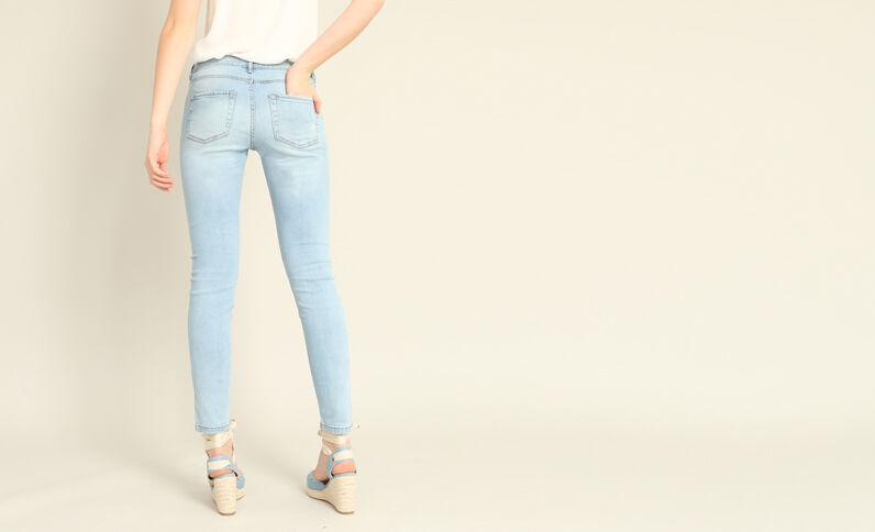 - Skinny jeans met middelhoge taille Lichtblauw