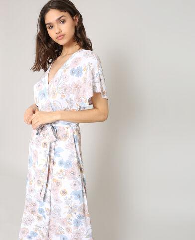 Gekruiste jurk wit
