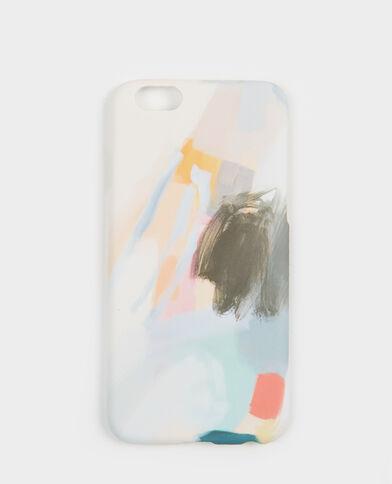Coque compatible iPhone peinture bleu