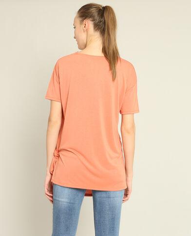T-shirt met strik Perzik