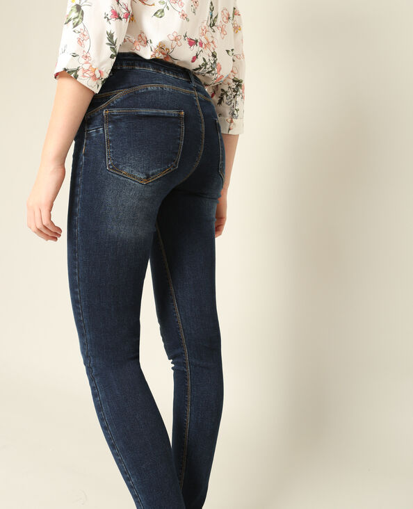 Push-up jeans blauw