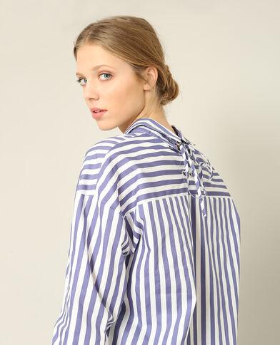 Chemise à rayures bleu