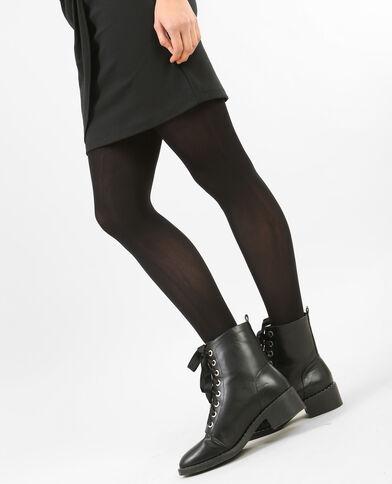 Ondoorzichtige panty zwart