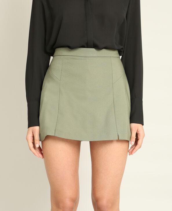 Mini-jupe short vert