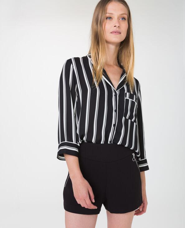 Hemd in pyjamastijl zwart