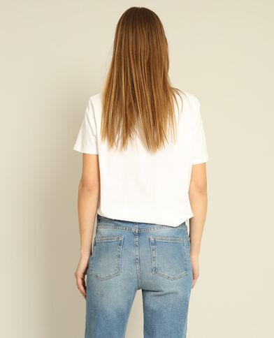 Bedrukt T-shirt wit