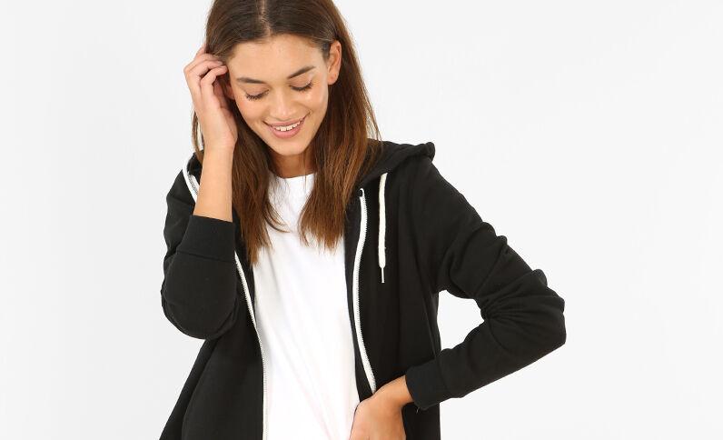 Sweater met rits zwart