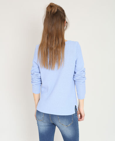 Trui in origineel tricot hemelsblauw