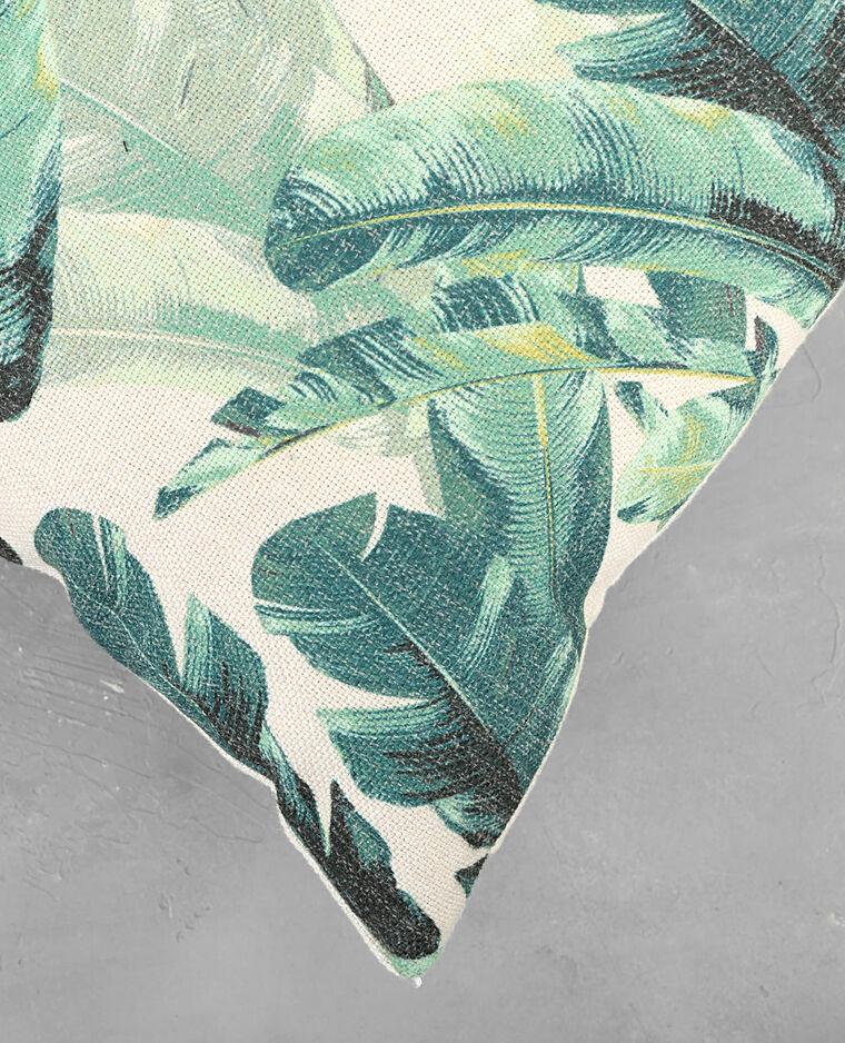 Housse de coussin tropicale vert