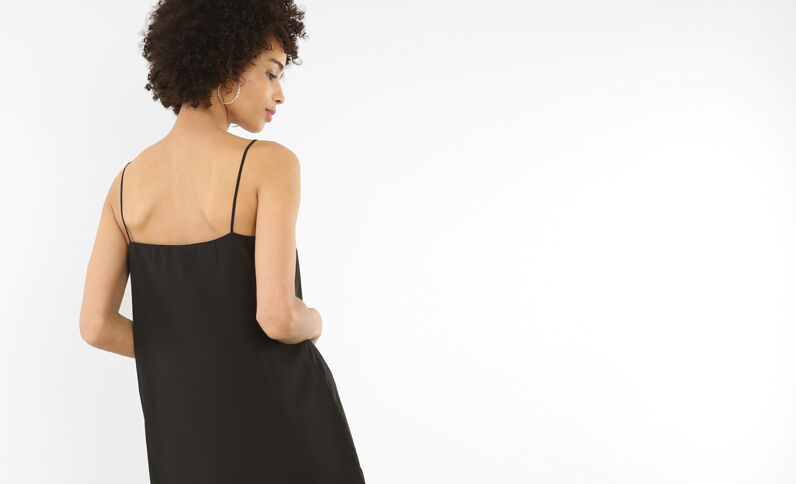 Robe croisée noir