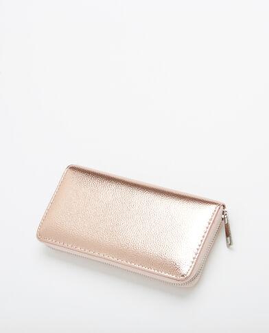 Metallic portefeuilletasje koperrood