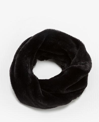 Kraag van imitatiebont zwart