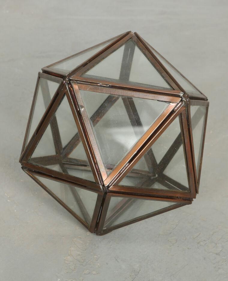 Polygone en verre bronze