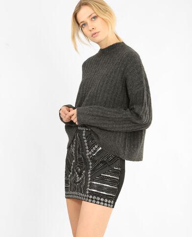 Oversized trui grijs