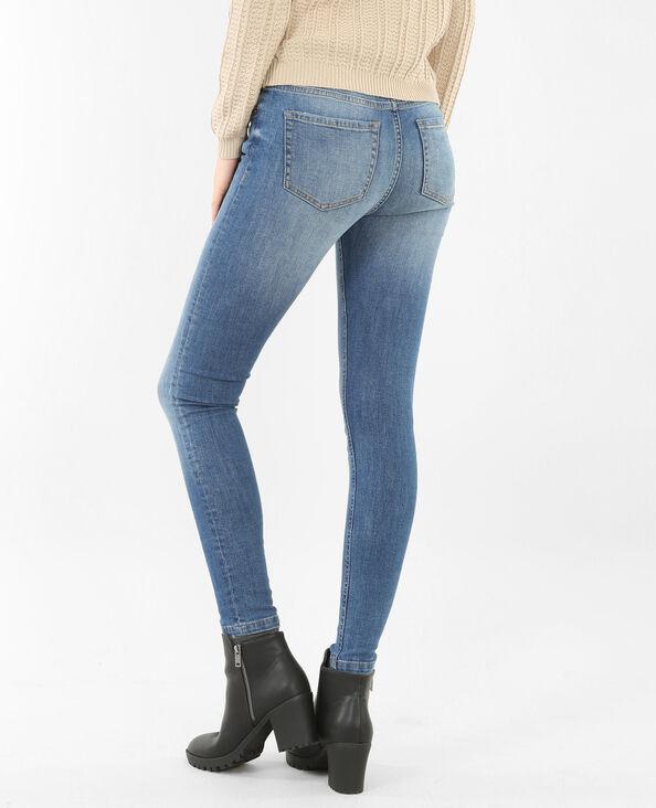 Skinny met middelhoge taille blauw