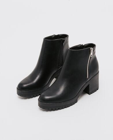 Laarzen met profielzool zwart