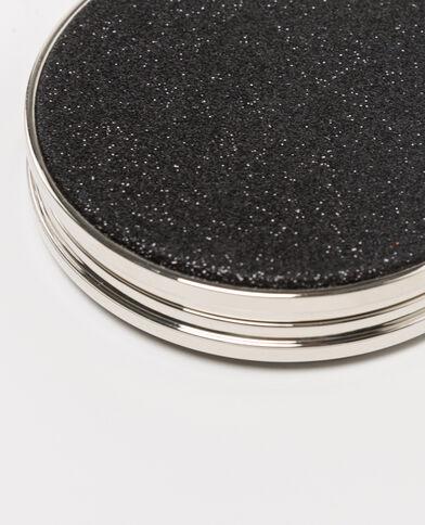 Zakspiegeltje met pailletten zwart