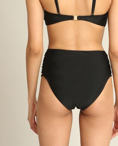Bikinislip met hoge taille zwart