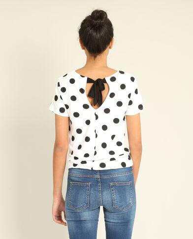 T-shirt à pois blanc