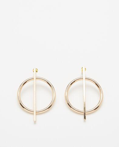 Goudkleurige oorbellen goudkleurig
