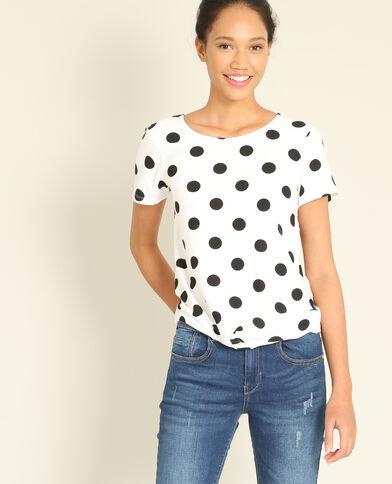 T-shirt met stippen wit