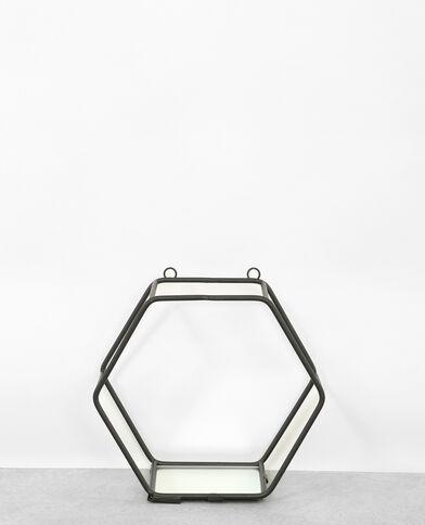Etagère hexagonale noir
