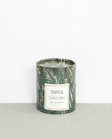 "Bougie parfumée ""Tropical"" vert"