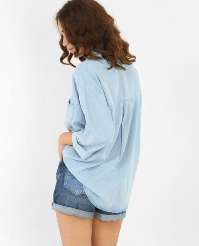 Soepelvallend XL-hemd blauw