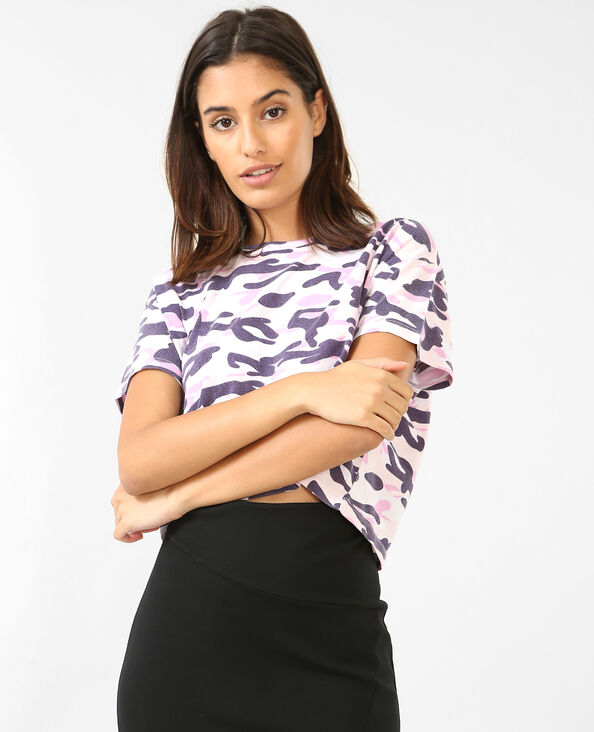 Cropped top camouflage violet