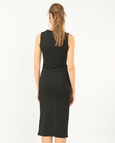 Lange strakke jurk grijs