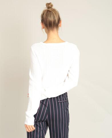 Trui van origineel tricot ecru