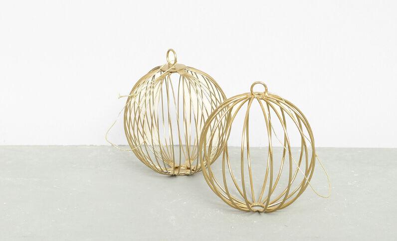 Metalen kerstballen goudkleurig