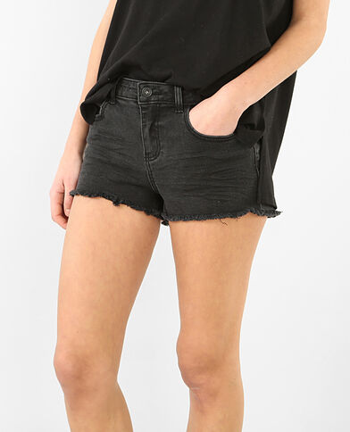 Mini short denim noir