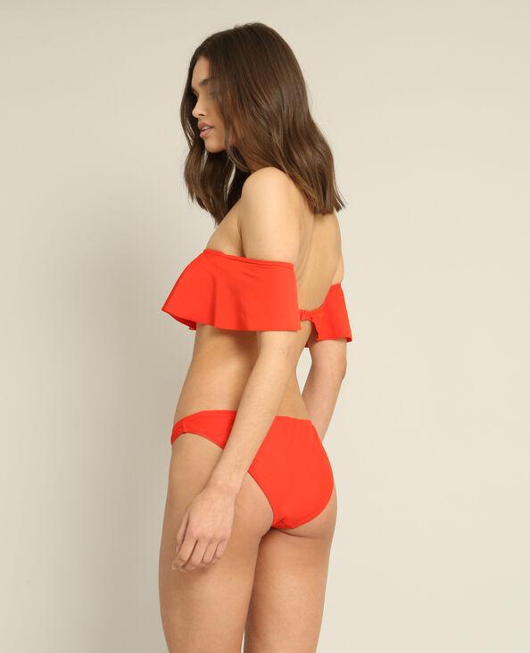Bandeau-bikinitop rood