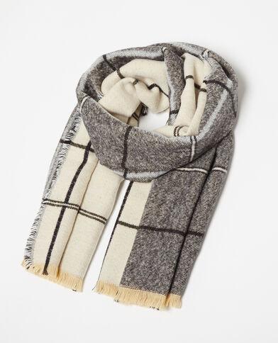 Omkeerbare sjaal grijs