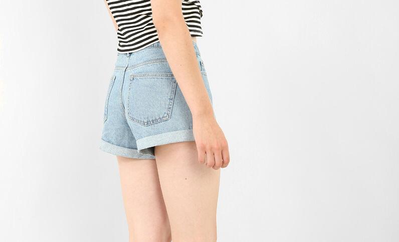 Jeansshort blauw